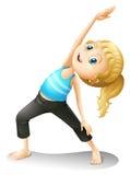 A girl exercising vector illustration