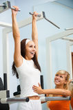 Girl exercising on VKR Royalty Free Stock Photo