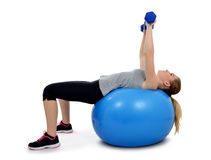 Girl exercising workout fitness aerobic Royalty Free Stock Photos