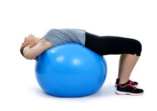 Girl exercising workout fitness aerobic Stock Images