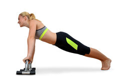 Girl exercising workout fitness aerobic. Royalty Free Stock Photo