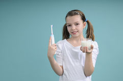 Free Girl Expressing Healthy Teeth Stock Image - 18446321