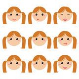 Girl expression face Royalty Free Stock Photo