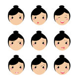 Girl expression face Stock Photos