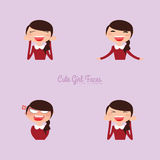 Girl expression faces Stock Photo