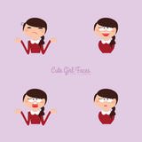 Girl expression faces Royalty Free Stock Image