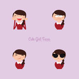 Girl expression faces Royalty Free Stock Images