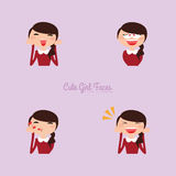Girl expression faces Stock Image