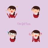 Girl expression faces Royalty Free Stock Photos