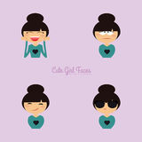 Girl expression faces Stock Photography