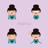 Girl expression faces Royalty Free Stock Photo