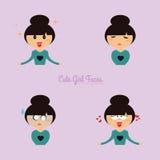Girl expression faces Stock Photos