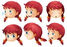 Girl expressions Stock Images