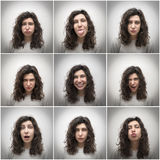 Girl expressions Stock Photography