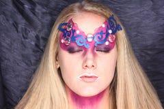 Girl extraterrestrial alien Stock Photo