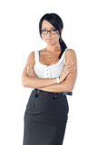 The girl in eyeglasses royalty free stock images