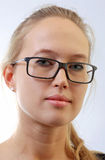 Girl in eyeglasses. Royalty Free Stock Photography