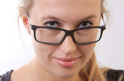 Girl in eyeglasses. Stock Photography