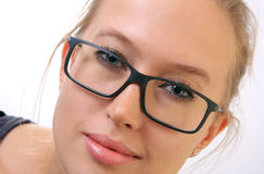 Girl in eyeglasses. Stock Image