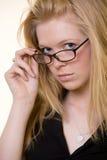 Girl in eyeglasses Stock Photography