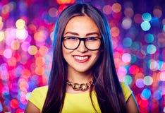 Girl in eyeglasses Royalty Free Stock Images