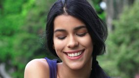 Girl With Eyes Closed. Stock photo of a teen Stock Images
