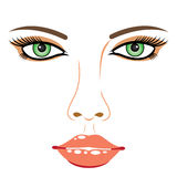 Girl face Stock Images