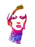 Girl face abstract  design artwork Royalty Free Stock Photos