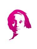 Girl face artwork design Royalty Free Stock Photo