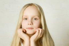 Girl - face close-up Stock Image