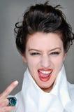 Girl face closeup Royalty Free Stock Photos