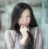 Girl face closeup. Stock Photos
