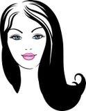 Girl face fashion icon Stock Photography