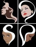 Girl face fashion symbol Stock Photos