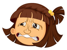 A girl face Stock Image