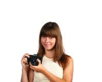 Girl Face Isolated Stock Photos