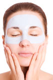 Girl with face mask Royalty Free Stock Photos