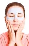 Girl with face mask stock photos