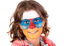 Girl with face-paint stock photography