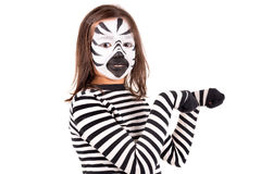 Girl with face-paint Stock Image