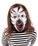 Girl with face-paint Royalty Free Stock Images