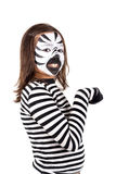 Girl with face-paint Royalty Free Stock Image
