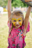 Girl with face-painting Royalty Free Stock Photography