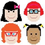 Girl face pixel art Stock Photo