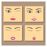 Girl Face. Stock vector illustration Stock Photo