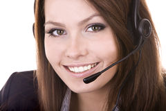 Girl  face from  support service. Stock Photo