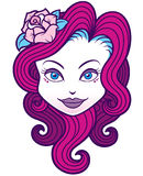Girl face. Vector illustration of Girl face Royalty Free Stock Photo