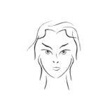 Girl face vector Royalty Free Stock Photos