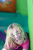 Girl with facepaint Royalty Free Stock Photo