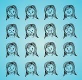 Girl faces Stock Photography